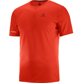 Salomon Agile HZ SS Tee Men fiery red